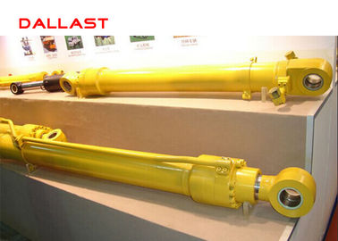 Double Acting Welded High Pressure Hydraulic Cylinder dengan Piston