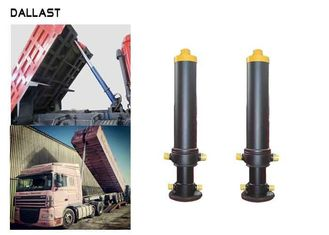 Single Way Telescopic Hydraulic Cylinder 3 Bore Multistage Hydraulic Ram Untuk Dump Truck