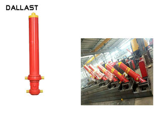 Multi Stage Telescopic Single Acting Hydraulic Cylinder Hydraulic Oil Working Medium